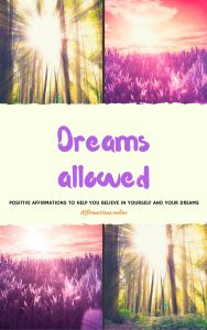 Dreams Allowed - positive affirmations ebook cover from affirmations.online