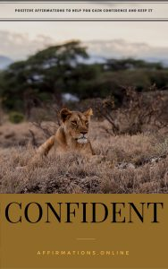 Confident - eBook cover - free affirmations eBook from affirmations.online