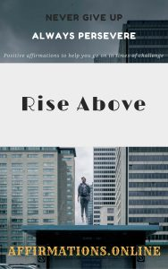 Rise Above - free affirmation book - ebook cover affirmations.online