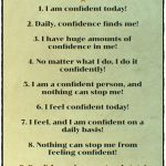 List of 10 Confidence Affirmations