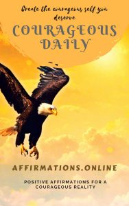Courageous Daily - eBook cover - free affirmations eBook from affirmations.online