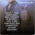 Daily Affirmation for confidence 30.09.2020