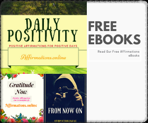 Free Affirmations eBooks banner from Affirmations.online