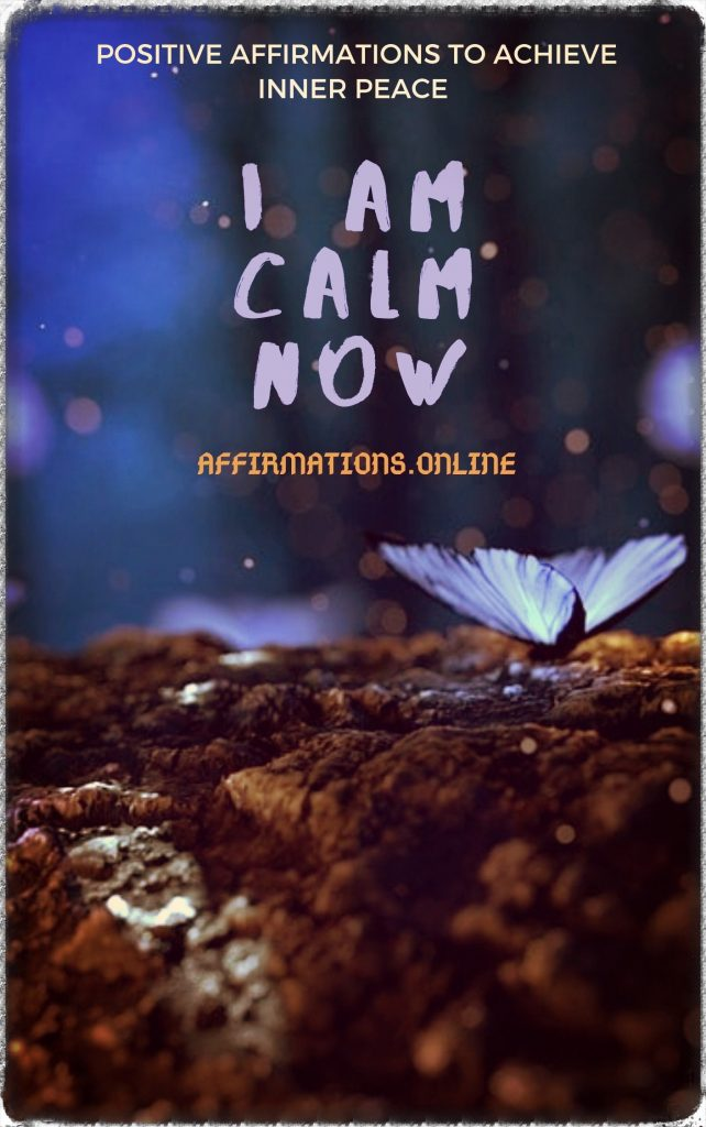 I Am Calm Now - eBook cover - free affirmations eBook from affirmations.online