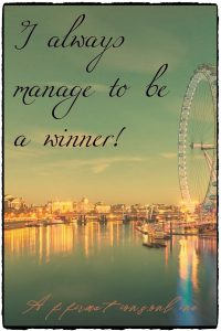 Positive affirmation from Affirmations.online - I always manage to be a winner!