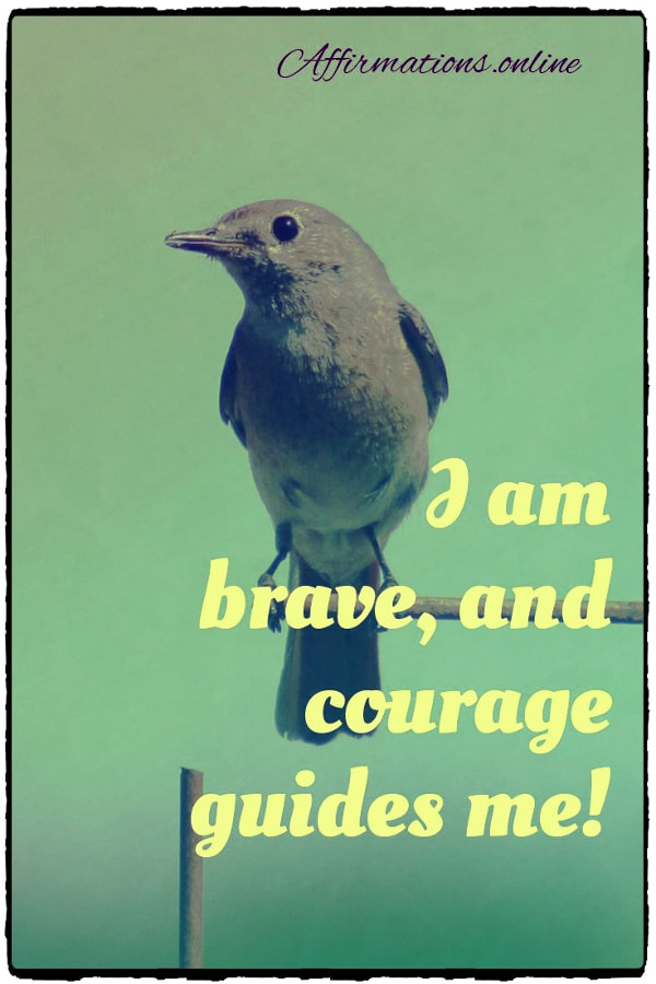 Positive affirmation from Affirmations.online - I am brave, and courage guides me!