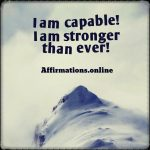 No matter what, I have the confidence to go on and be strong!