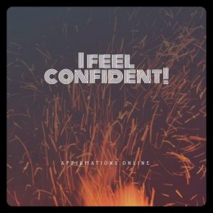 Positive affirmation from Affirmations.online - I feel confident!