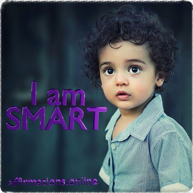 Positive affirmation from Affirmations.online - I am smart!