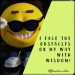 I am a wise person, and I know how to handle life!