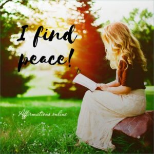 Positive Affirmation from Affirmations.online - I find peace!