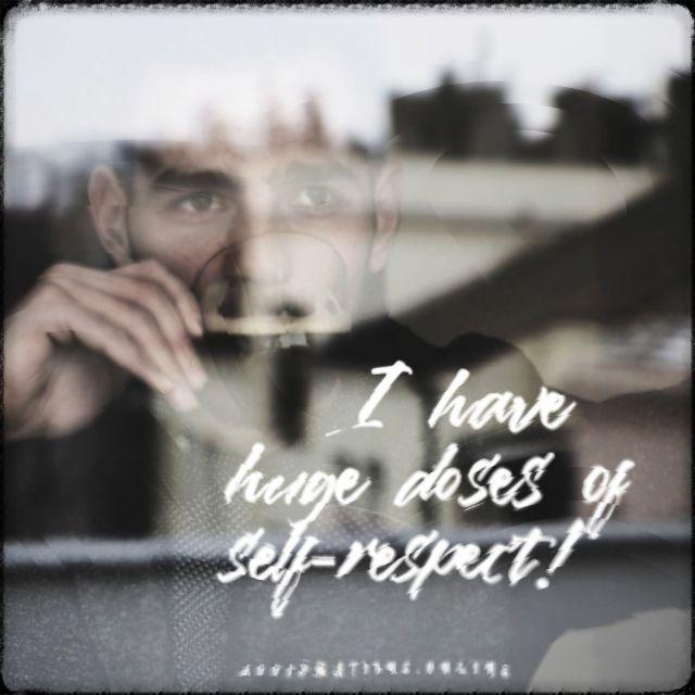 Positive affirmation from Affirmations.online - I have huge doses of self-respect!
