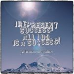 My deeds are successful, and my life is successful!