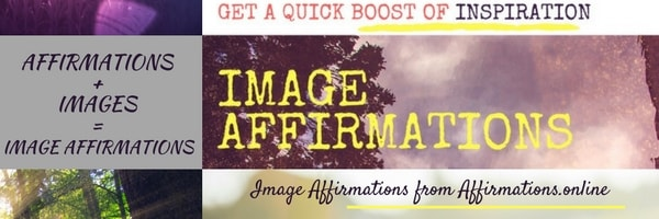 Image Affirmations from Affirmations.online - banner
