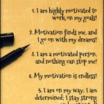 List of 5 Motivation Affirmations