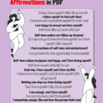 List with 20 Self-Love Affirmations in PDF