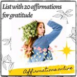 List with 20 affirmations for gratitude