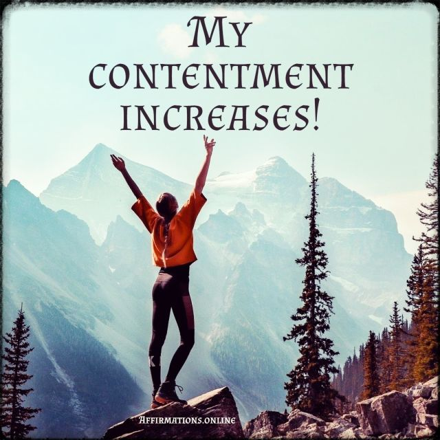 Positive affirmation from Affirmations.online - My contentment increases!
