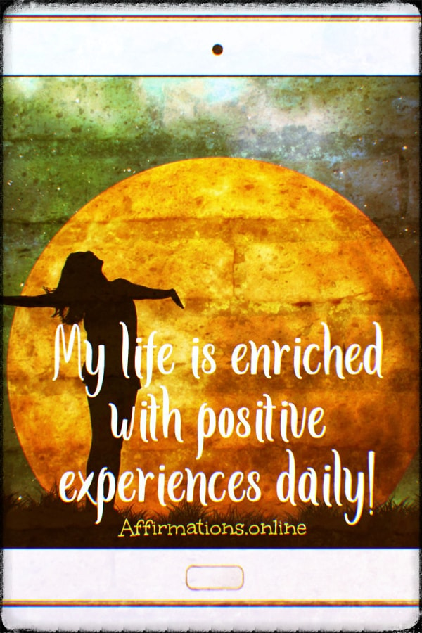 Positive affirmation from Affirmations.online - Constantly, I think good about myself, and I experience self-love!