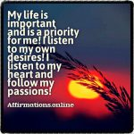 I listen to myself and find great power within me!