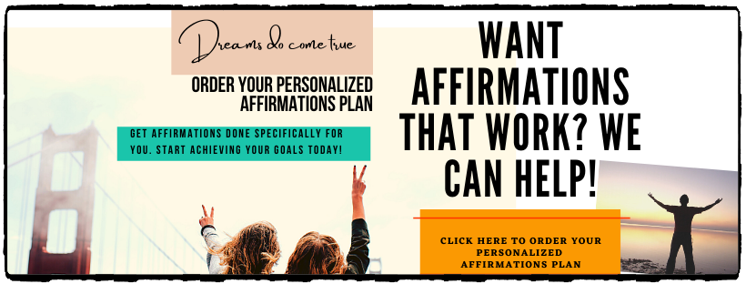 Order a personalized affirmations plan