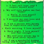 List of 10 Self-Love Affirmations