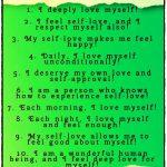 List of 10 Self-Love Affirmations