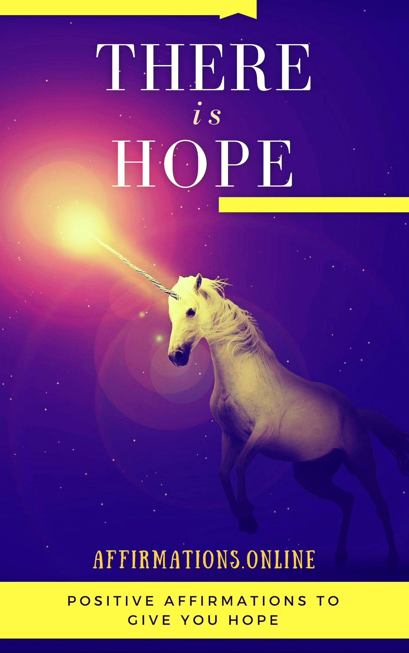 There Is Hope - eBook cover - free affirmations eBook from affirmations.online