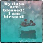 My days turn into joyful days!